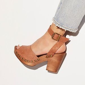 Free People Pasadena Clog in Copper/ brown size 8